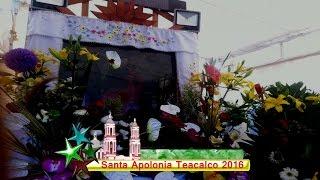 Fiesta Patronal Santa Apolonia Teacalco Tlaxcala 2016