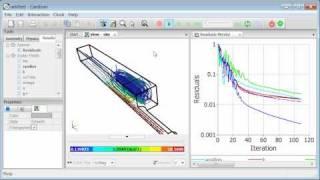 Caedium CFD Simulation: Air Flow Through a Pipe into a Box