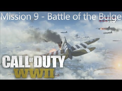 Call of Duty: WW2 - Mission 9 Battle of the Bulge - Campaign Playthrough COD WW II [Full HD]