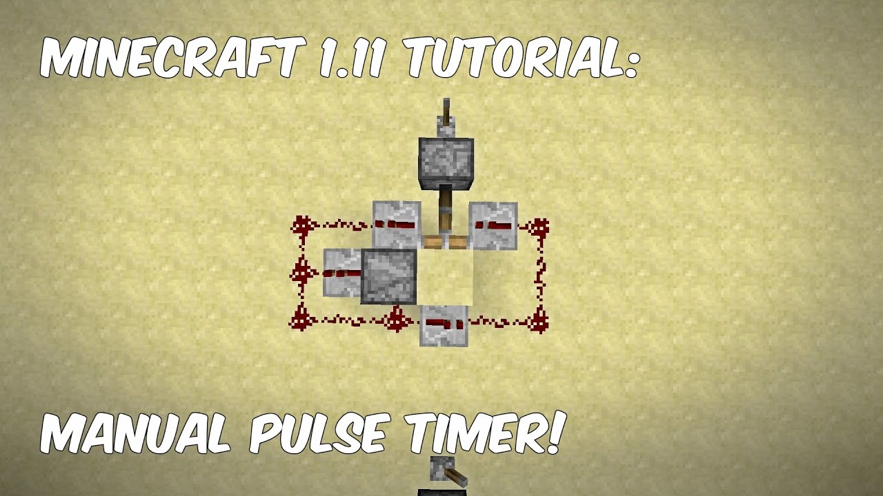 Minecraft 111 Tutorial Manual Pulse Timer Youtube Monostable Circuit Circuits
