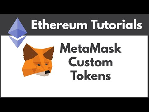 Add A Custom Token To MetaMask Ethereum Chrome Wallet