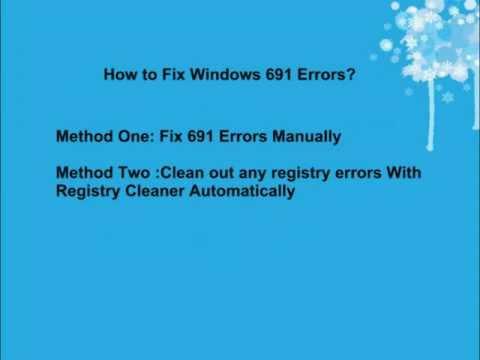 Error 691 Fix - Windows 7 691 Error