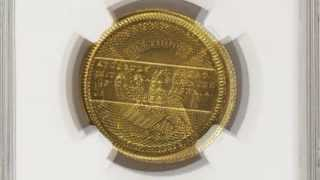 1852 Humbert $10 Territorial Gold Coin Sells for $1.057 Million by Heritage Auctions. VIDEO: 2:03.