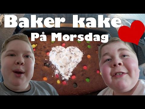 Baker kake på Morsdag