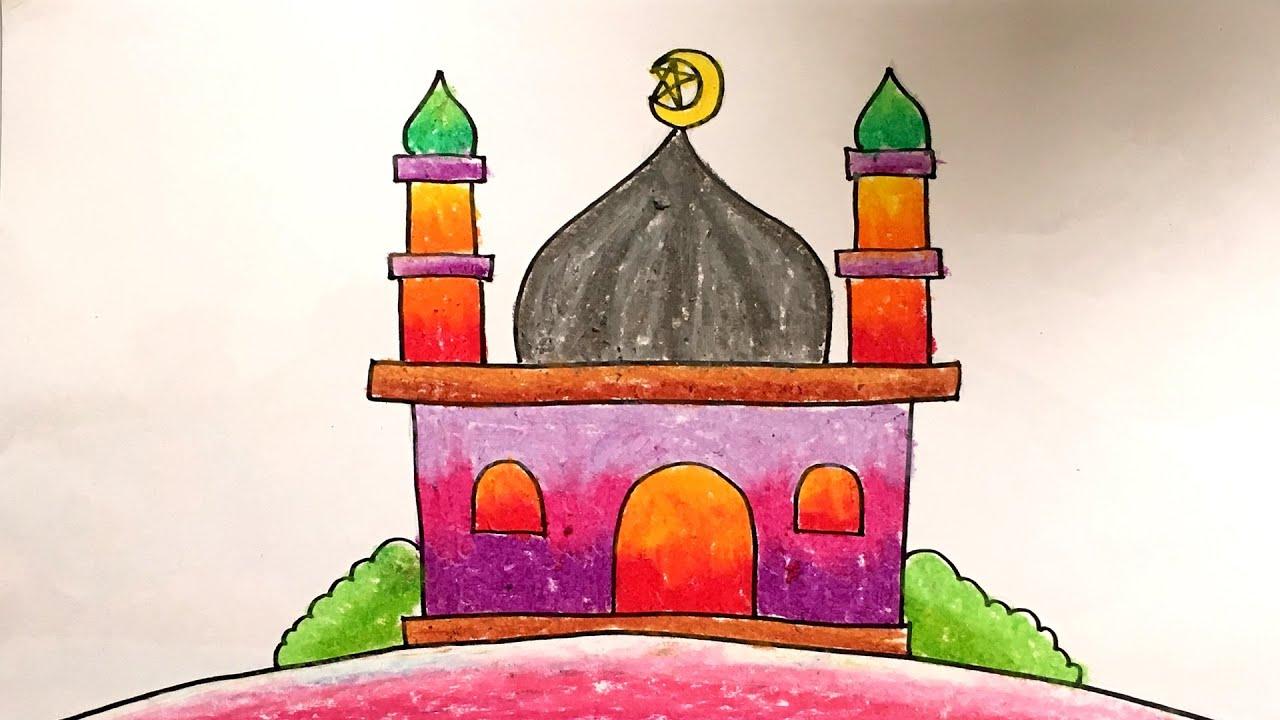 Menggambar Masjid Untuk Anak Tk Nusagates