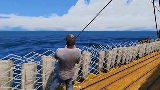 GTA 5 - Ngày nghỉ rảnh rỗi của Trevor đi ra ngoài khơi câu cá và săn cá mập | ND Gaming