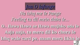 Hawa hawa karaoke song with female voice and lyrics (Mubarakan)