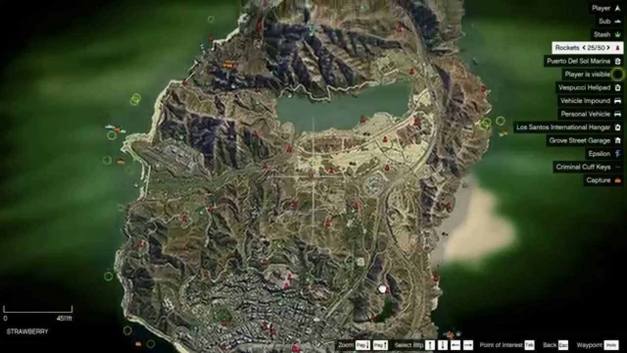 satellite map collectibles on map gta v pc youtube