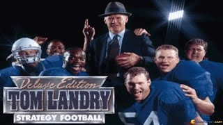 Tom Landry Strategy Football gameplay (PC Game, 1993)