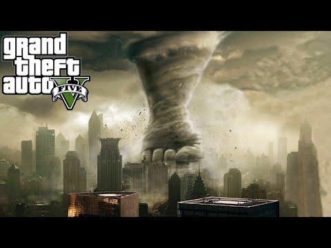 GTA 5 Mods TORNADO MOD (GTA 5 TORNADOES VS CITY MOD) (GTA 5 Funny Moments Compilation)
