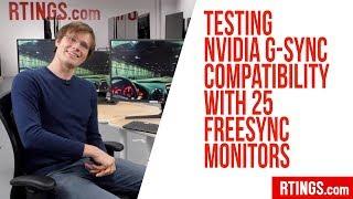 Випробування серії G-синхронізації сумісність з технологією FreeSync монітори 25 – RTINGS.com