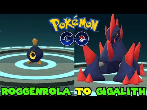 Evolving ROGGENROLA to GIGALITH in Pokemon Go