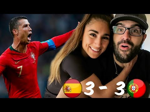 Reacting to portugal vs spain 2018 world cup!