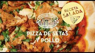 Pizza de setas y pollo