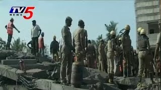 Chennai Building collapse | Rescue Team Operations Continuous : TV5 News