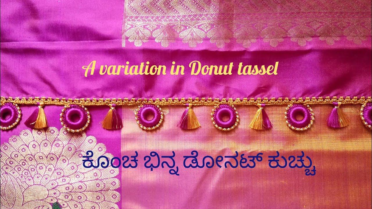 A different Donut saree tassel or saree kuchu