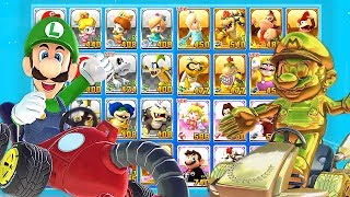 Mario Kart Tour All Characters Unlocked and Golden Mario, Luigi, King Boo, Bowser + More