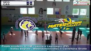 07-06-2015: Finale scudetto U15M - Volley Segrate - Materdominivolley.it Castellana Grotte
