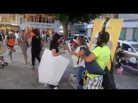 Enfrontamentos en Sanxenxo por unha convocatoria dun colectivo de defensores do español