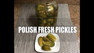 Polish Fresh Dill Pickled Cucumbers - Ogorki Malosolne z Koprem Episode #13