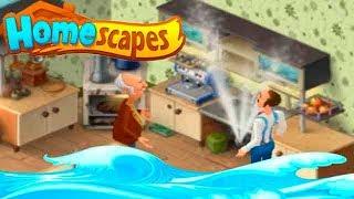 HomeScapes Дворецкий #17 (уровни 96-100) ПОТОП в Доме! Детское Видео Игровой Мультик Let's play