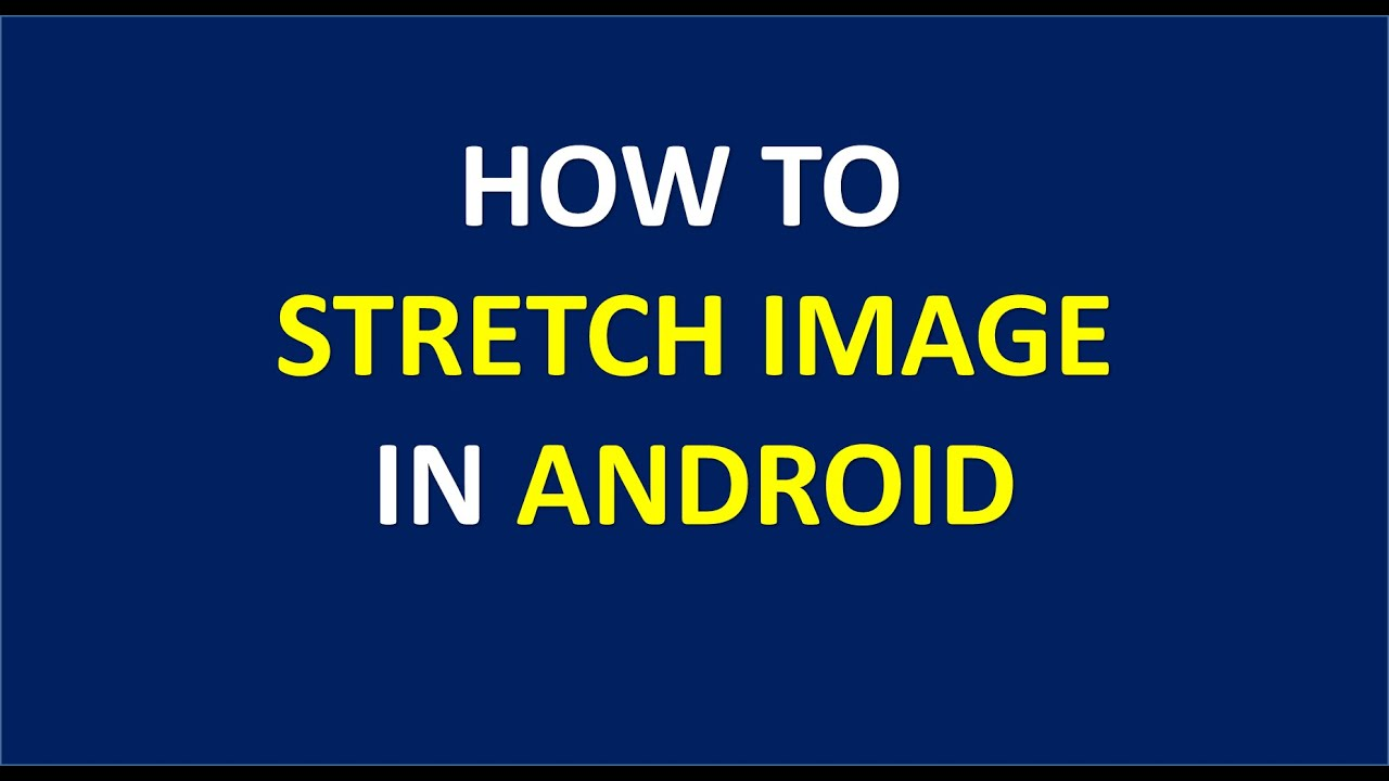 How to Stretch image to fit in ImageView in android