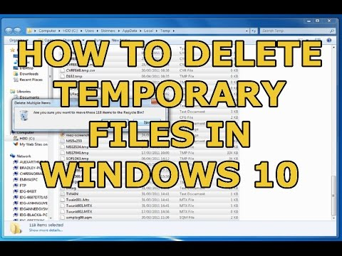 How to delete temp files in windows 10 using cmd