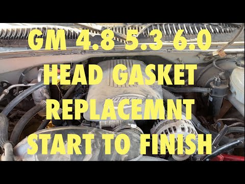 2004 silverado head gasket replacement GM 4.8 5.3 6.0 HEAD GASKET REPLACEMENT STEP BY STEP COMPLETE
