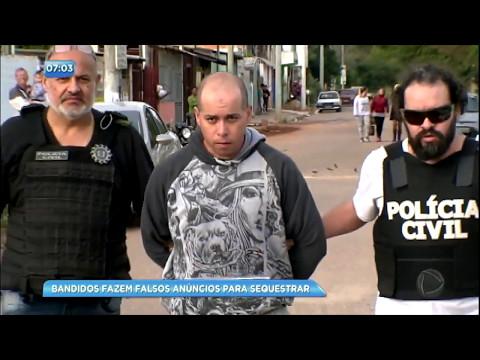 Sequestradores atraem vítimas por meio de falsos anúncios na internet