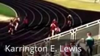 2016 District 100m Dash   Karrington Lewis1