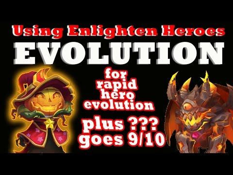 Castle Clash-Using Enlighten To Help Evolve 3 Heroes Instantly!!! (for KushmanElite)