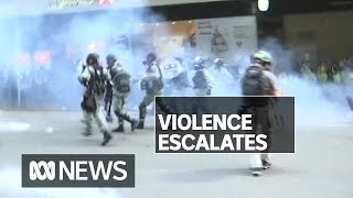 Two people critical after day of violent protests in Hong Kong | ABC News