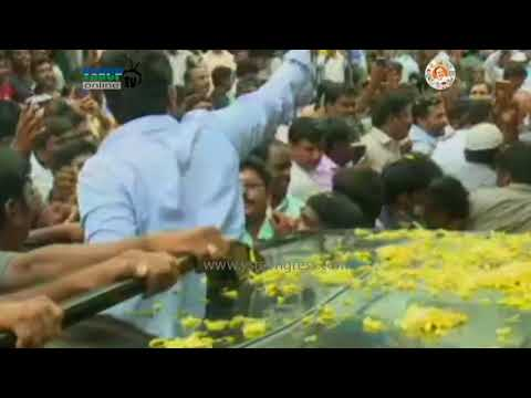 YS Jagan convoy visuals in Nandyal Election Campaign - 17th Aug 2017