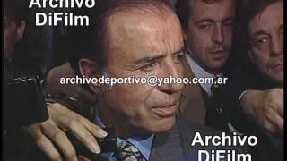 Día del Periodista - Carlos Menem sobre la libertad de expresión en Argentina - DiFilm (1996)
