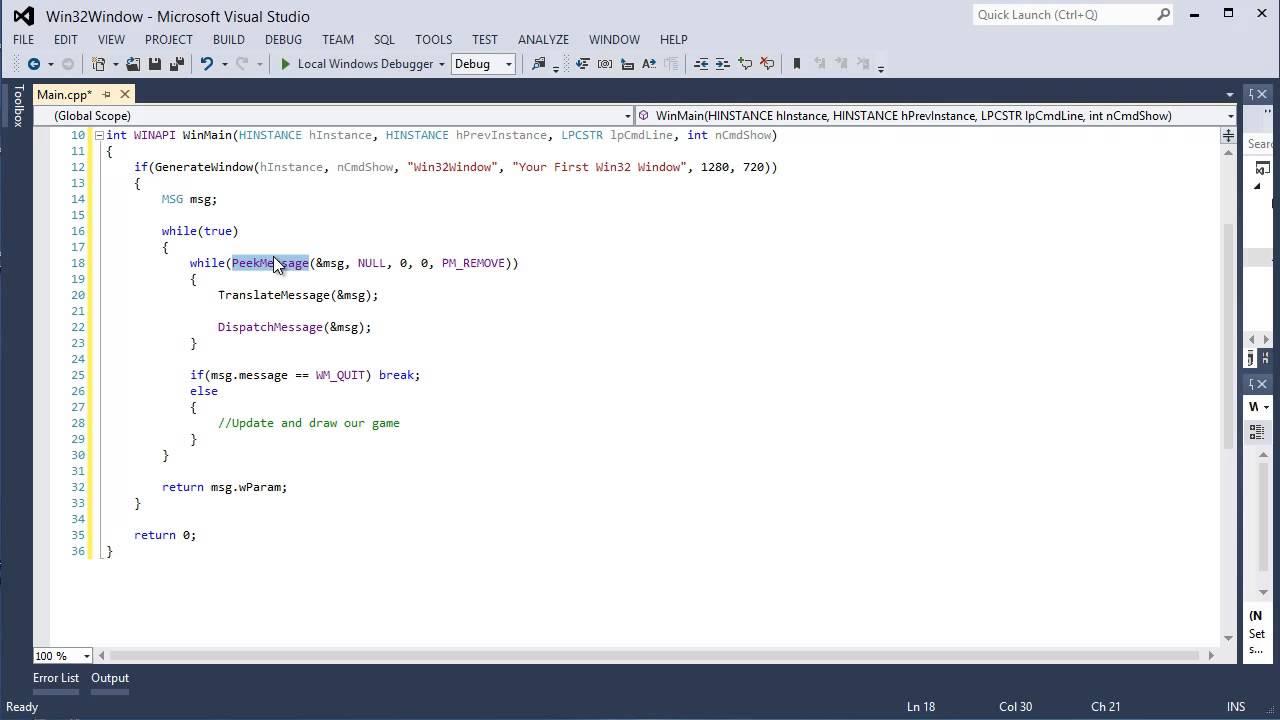 C++ directx 9] tutorial 0: creating a basic win32 window youtube.