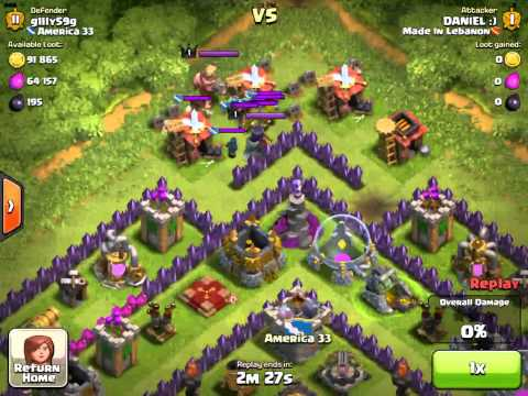 Clash of Clans- Hogs vs Multiple Inferno Attack