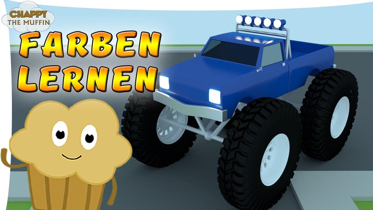 Chappy der Muffin - Farben lernen mit Monstertrucks - Deutsch - YouTube