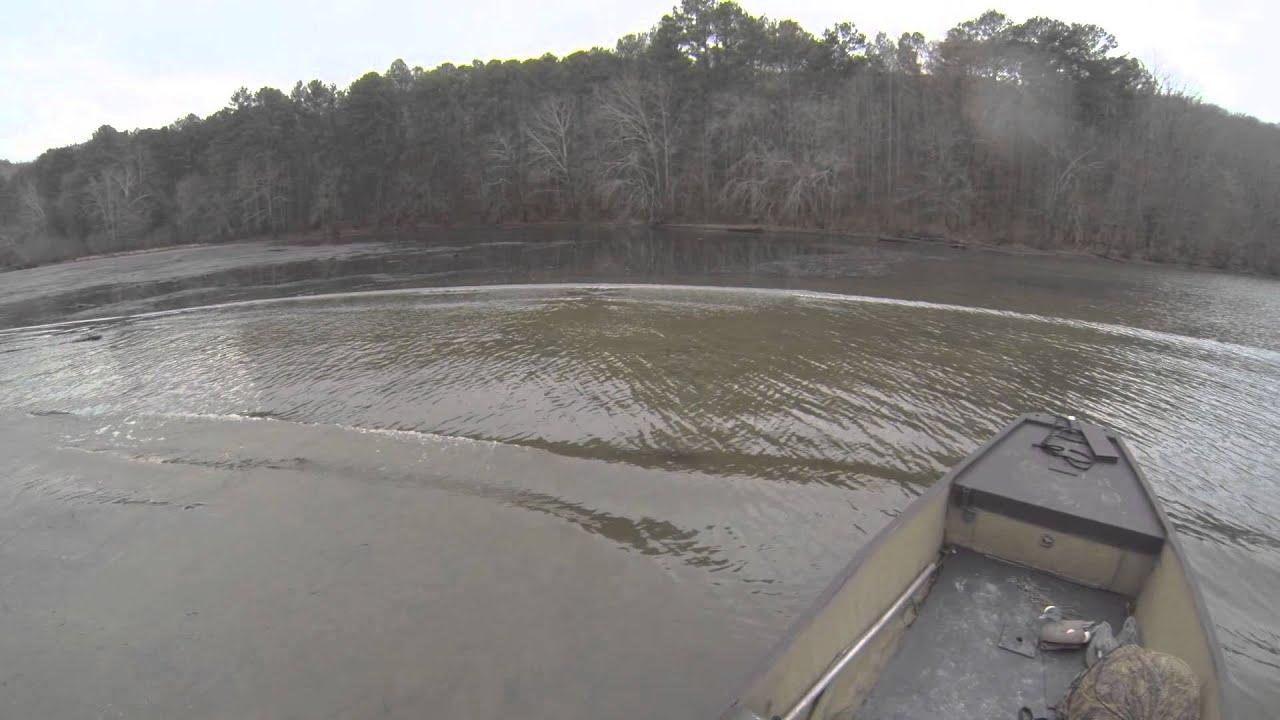 River running in a Gator Trax Boat