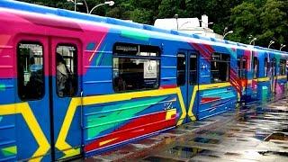 Арт-поезд метро!1-й состав