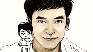 Remember Bie Sukrit cartoon drawing by Taonaka