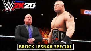 WWE 2K20 'Brock Lesnar' Special Gameplay ! FAIL GAME LIVE 2K20 Theme Gameplay |