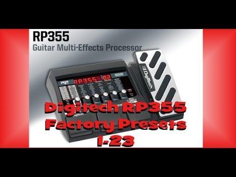Digitech RP355 Pt. 1 | Factory Presets 1-23