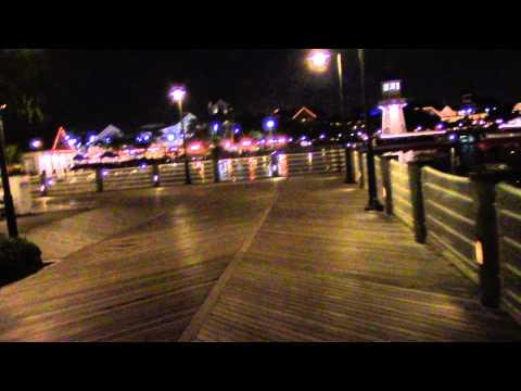 Walkway From Boardwalk Resort to Yacht Club Resort - Disney EPCOT Resorts