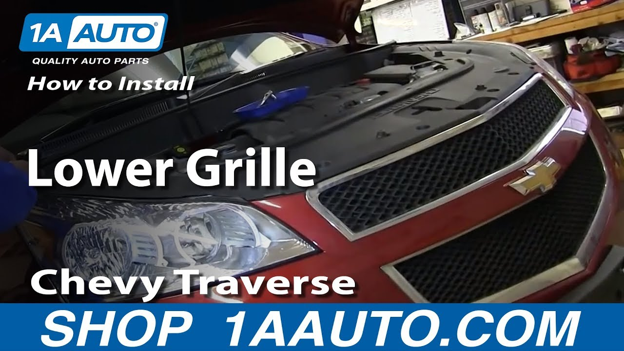 How To Install Replace Lower Grille 2009-2012 Chevy ...