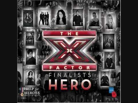 Hero - X Factor finalists 2008 (with lyrics) - YouTube