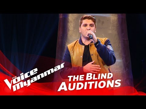 "Mark Jason: ""Love Yourself"" - Blind Audition - The Voice Myanmar 2018"