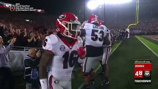 Sony Michel Game-Winning Touchdown | 2018 Rose Bowl Highlights