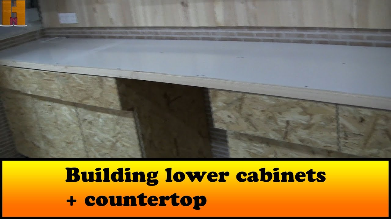 Building Lower Cabinets + Countertop   YouTube