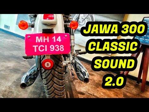 JAWA 300 EXHAUST SOUND 2018 ,JAWA BIKE SOUND,JAWA CLASSIC 300 SOUND
