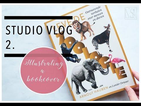 STUDIO VLOG - ILLUSTRATING A BOOK COVER